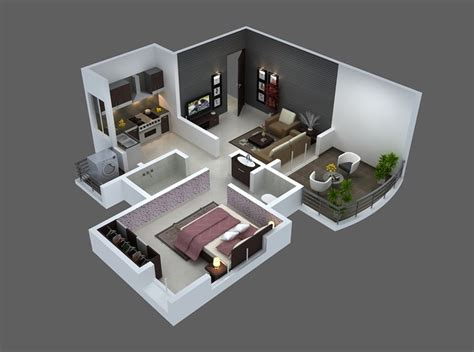 One Bedroom Plans Designs 25 One Bedroom House Apartment Plans