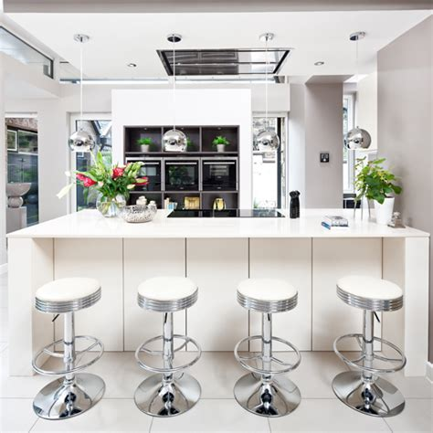 Silver And White Bar Stools by Decorating With White Ideal Home