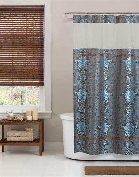 freestanding bath shower curtain damask shower curtain get quotations 13piece damask shower curtain blue u0026 white with 12