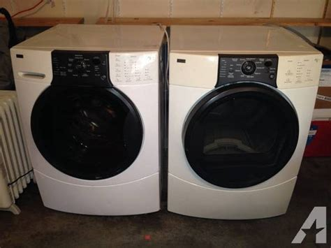Maytag Maxima Pedestal Front Load Washer Dryer Set Kenmore Stackable Front Load