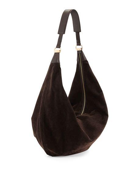 Sling Bag Suede Awir the row sling 15 suede hobo bag brown