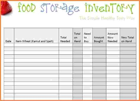 kitchen inventory list template 10 food pantry inventory spreadsheet excel spreadsheets