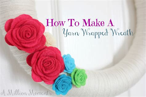 how to make wreaths how to make a yarn wreath