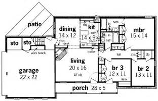 new simple one story house floor plan with simple house