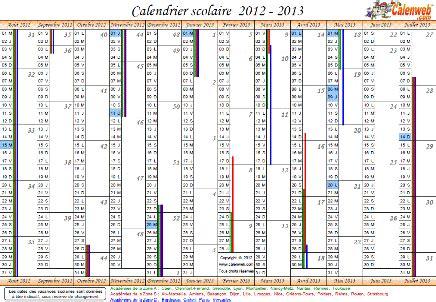 Calendrier Scolaire 2012 Et 2013 Calendrier Scolaire 2012 Clrdrs