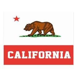 california state colors california state flag postcard zazzle