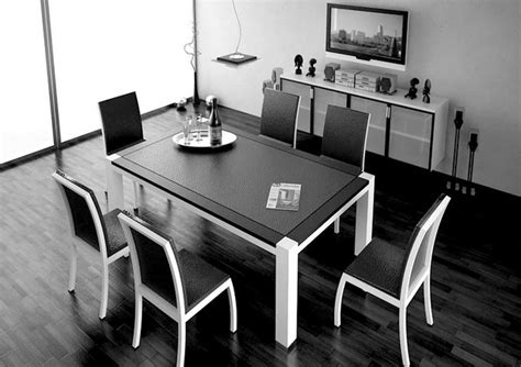 Dining Tables Black And White Black White Dining Table