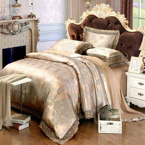 home stores bed linen aliexpress buy pink lace jacquard silk bedding sets