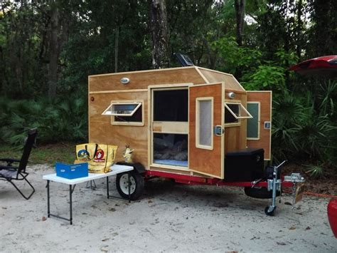 home built travel trailer plans mini cers build frugal way