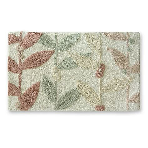 multi colored bathroom rugs lacey multi colored leaf bath rug bed bath beyond