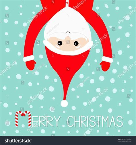 merry christmas santa claus hanging upside stock vector  shutterstock