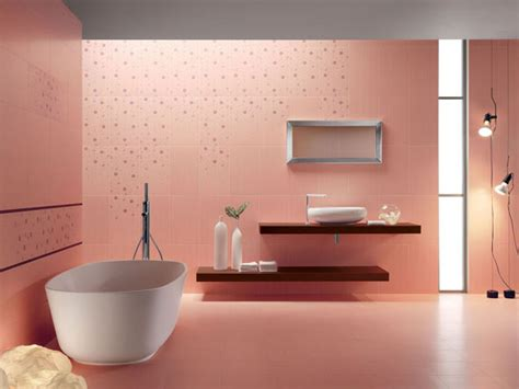 Modern Pink Tile Bathroom Stunning Bathroom Designs With Modern Italian Tile