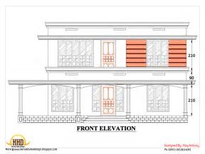 2d house plan sloping squared roof kerala home design and floor plans