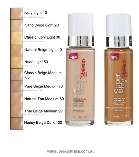Maybelline Superstay 24hr Foundation maybelline superstay 24hr makeup classic beige medium 60