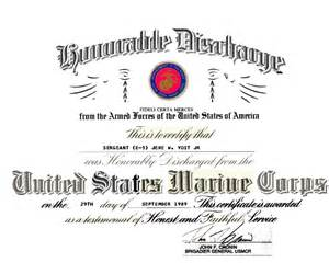 Honorable Discharge Certificate Template by Marine Dd214 Newhairstylesformen2014