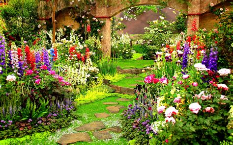 flower gardens wallpapers flower gardens wallpaper wallpapersafari