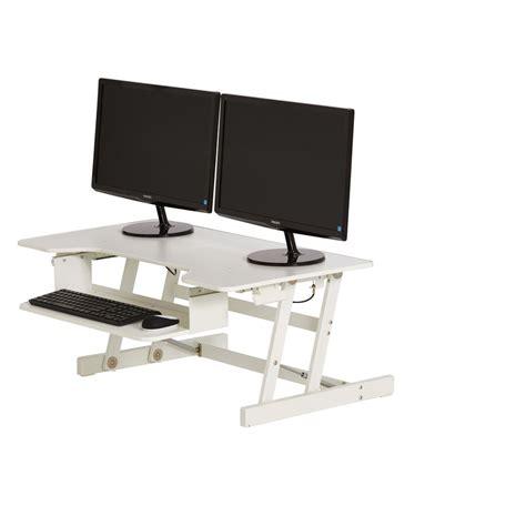 Office Works Desks Wynston Sit Stand Desk Large White Officeworks