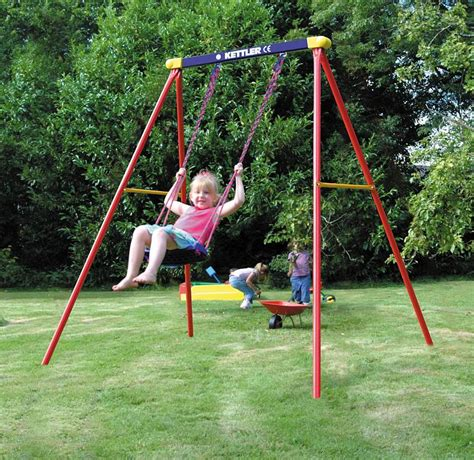 swinging on a swing set deluxe single seat swing set 8371 190