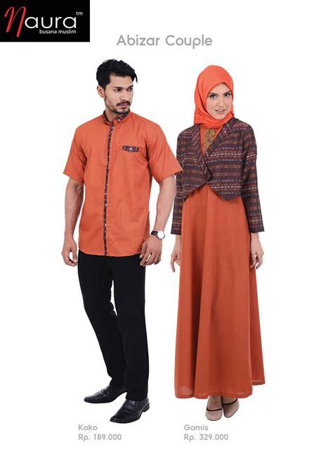 Baju Muslim Naura busana pasangan serasi butik naura