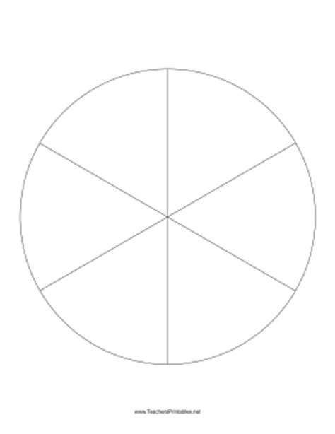 pie template pie chart template 6 slices