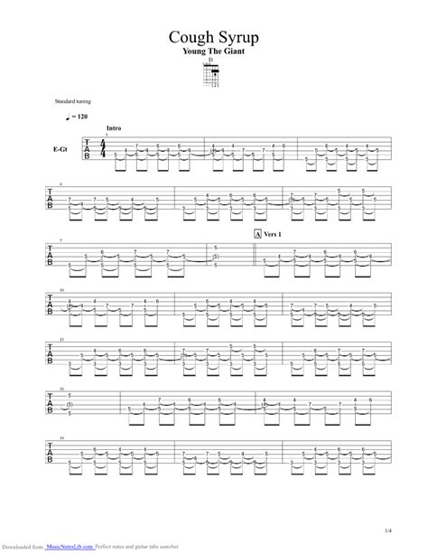 cough syrup song cough syrup guitar pro tab by young the giant