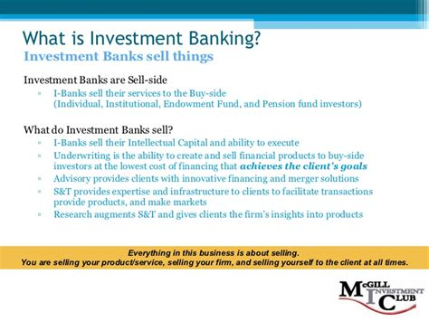 What Do Investment Banks Look For In Mba Interns by Investment Banking 101 F08