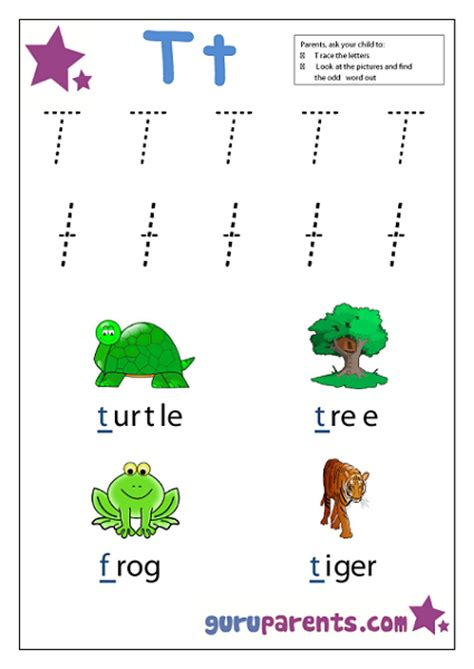 Letter T Worksheet Kindergarten by Letter T Worksheets Guruparents