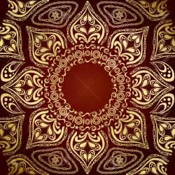 Indian wallpaper pattern gold image 350