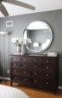 Gray walls dark brown furniture bedroom paint color amherst grey
