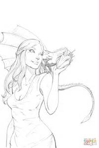 of thrones coloring pages daenerys targaryen from of thrones coloring page