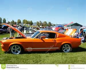 orange american muscle car stock photo image 1495100
