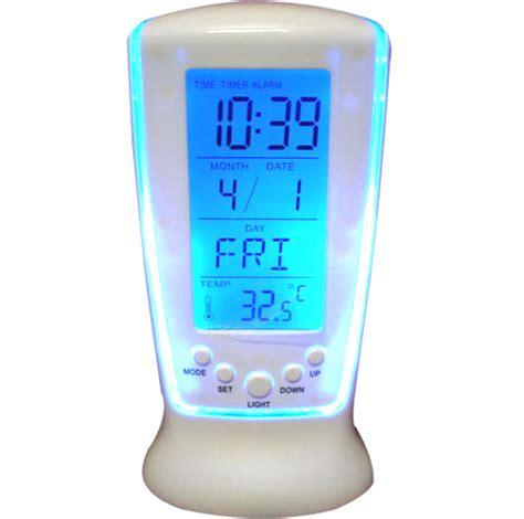 Calendar Table Clock Square Clock 510 Digital Alarm Temperature Calender Table