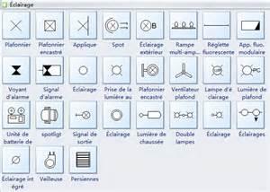 symboles de plan de plafond r 233 fl 233 chi et d 233 clairage et d