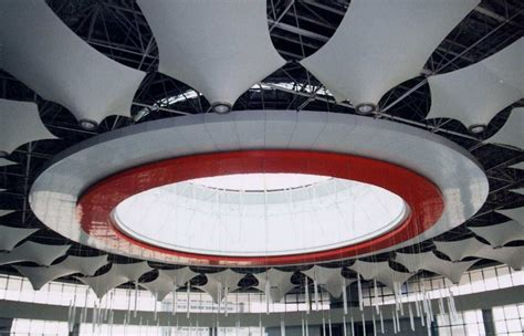 tensile pvcptfe fabrci structure  ceilings interior
