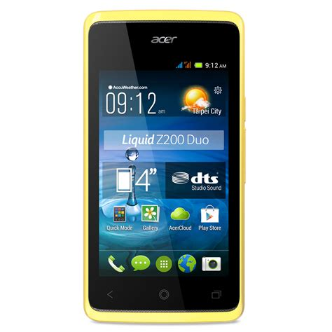 acer android mobile acer liquid z200 duo jaune mobile smartphone acer sur ldlc