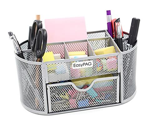 Desk Supply Organizer Easypag Mesh Desktop Organizer 9 Components Desk Accessories Supplies Caddy Ebay