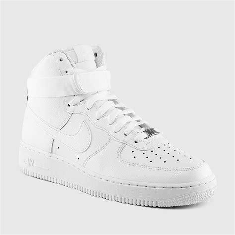 nike mens air force  high  white