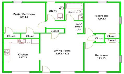 Bedroom House Layouts  Bedroom House Floor Plans