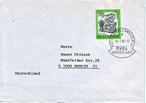 Brief Schweiz Nach Deutschland Dauer Philaseiten De Sondertarife Im Grenzbereich Deutschland 214 Sterreich Schweiz