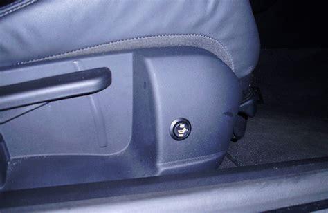 heated seat install closeup