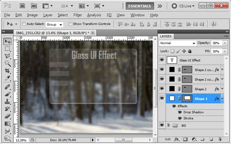 photoshop pattern to css css how create this glass effect in photoshop graphic