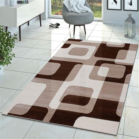 teppich wohnzimmer braun wohnzimmer teppich modern braun beige creme retro muster