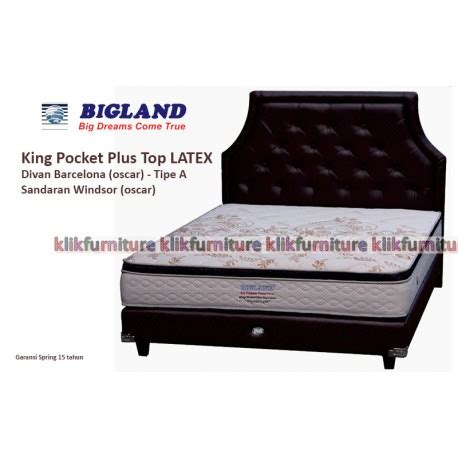 Kasur Bigland King Pocket king pocket plus top bigland springbed diskon promo