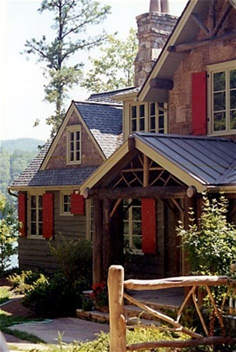 Log Cabin Shutters by With Shutters Beautiful Log Cabin Homes