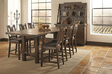 7 counter height dining room sets coaster padima 7 counter height dining room set in