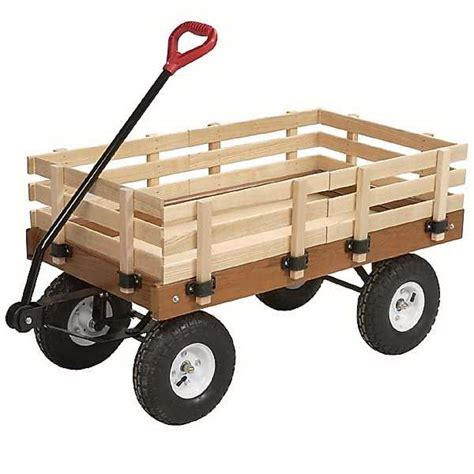 Wooden Wagon With Side Racks and A.t. Tires 99068   Save 40%