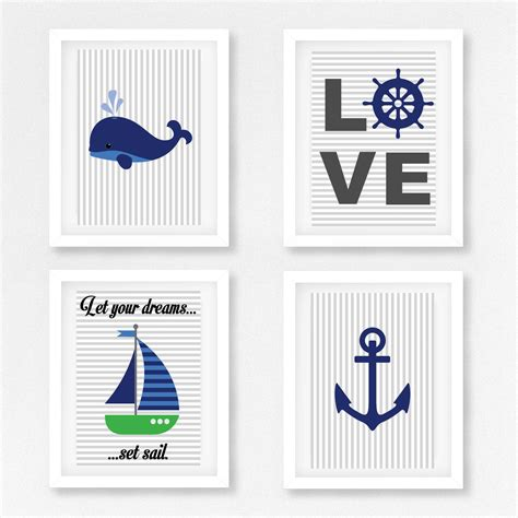 Nautical Nursery Wall Decor Nautical Wall Decor Nautical Nursery Nautical Decor