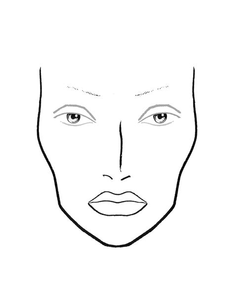 free coloring pages of face chart