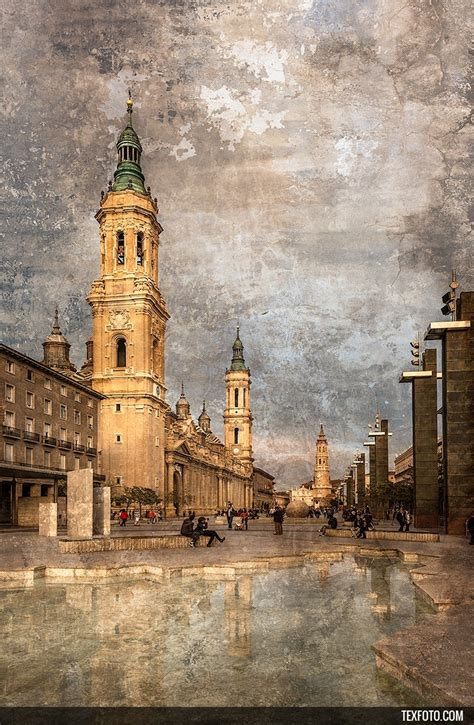 cuadro vertical de la plaza pilar de zaragoza n 186 01 - Cuadros Zaragoza