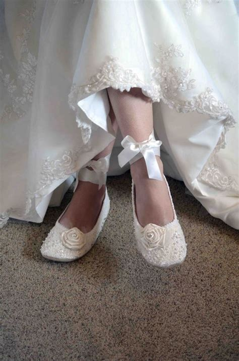 vintage flat wedding shoes ballet flats wedding shoes and vintage lace on